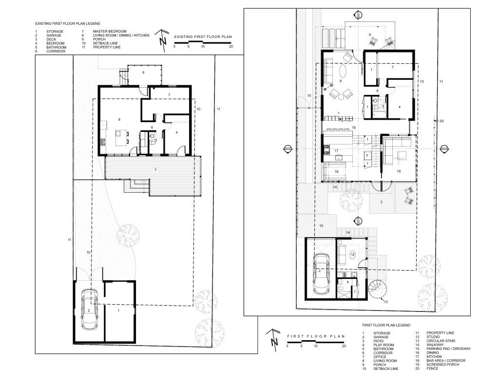 665WW_007_EXISTING_AND_FIRST_FLOOR_PLAN